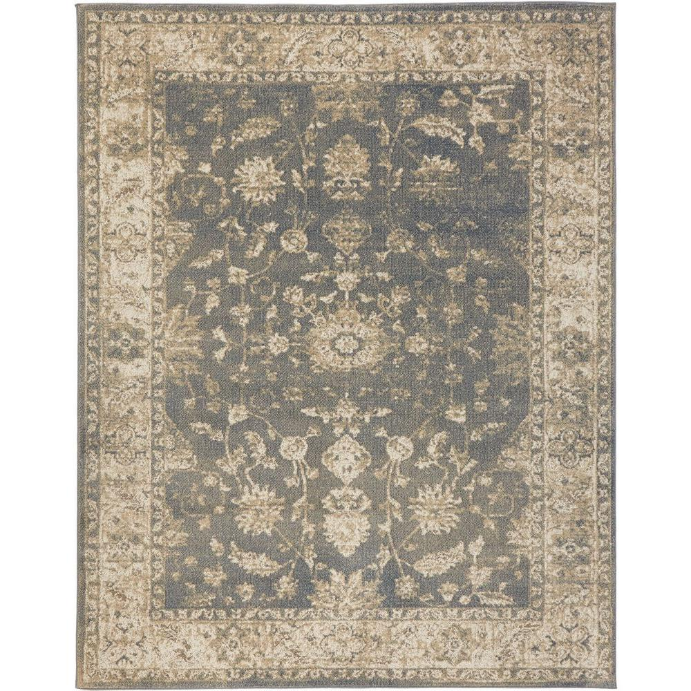 Bon Home Decorators Collection Old Treasures Blue/Cream 5 Ft. X 7 Ft. Area