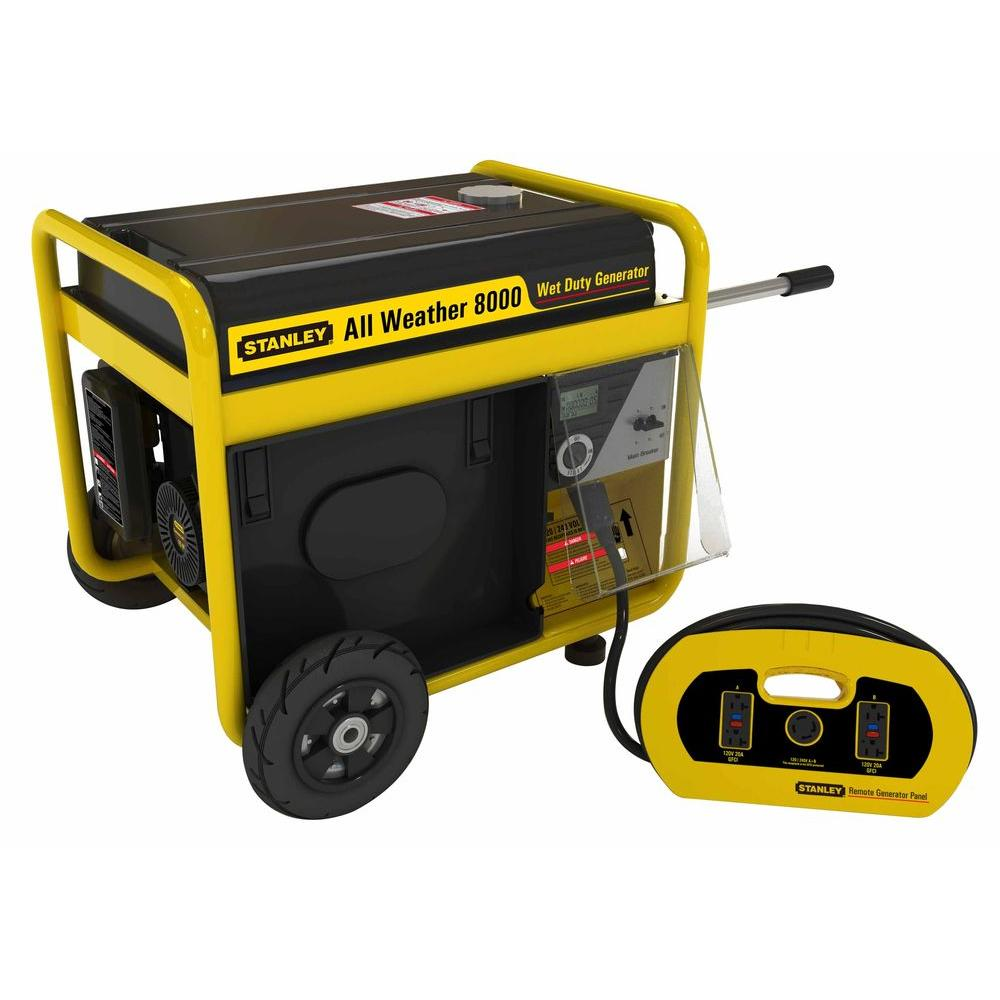 Stanley 8,000-Watt Storm Portable Generator with Electric Start and Removable Generator Panel