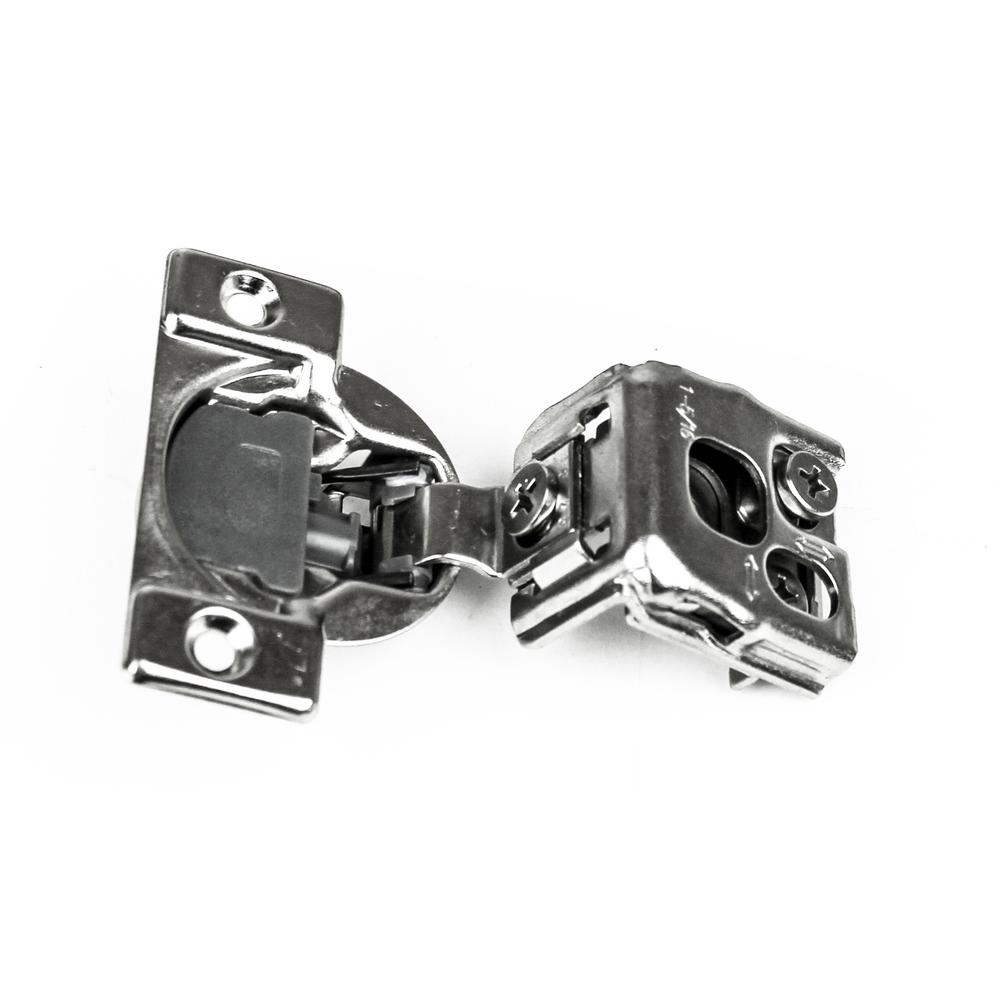 Screws Included PinLin 2 Pack 105 Degree Soft Close Kitchen Cabinet Hinge 35mm Plate Inset Cupboard Door Hinges