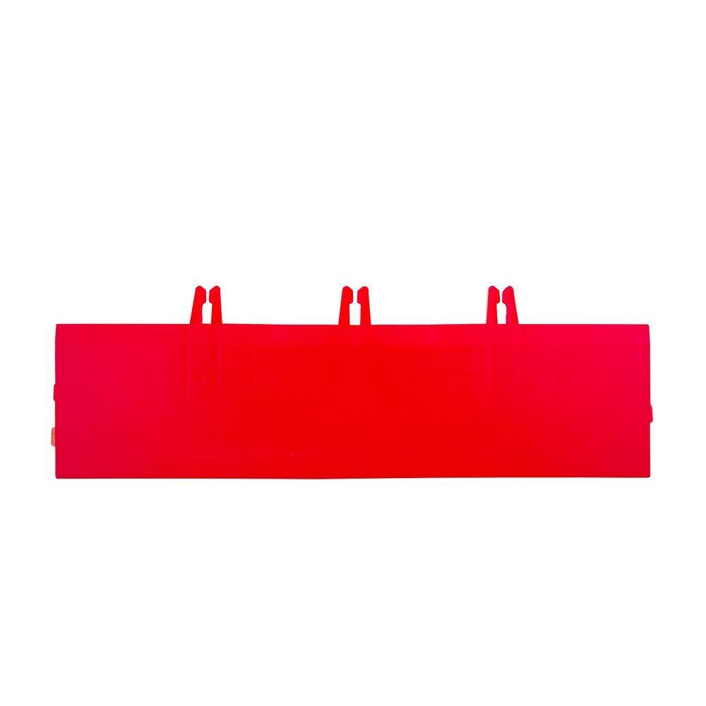 Armadillo Tile Flaming Red 3 in. x 12 in. Polypropylene Interlocking