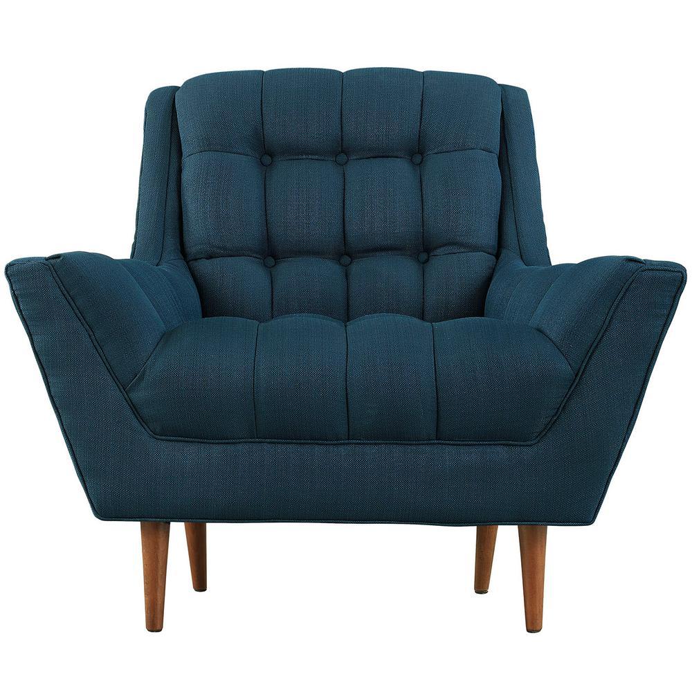 Response Azure Upholstered Fabric Armchair