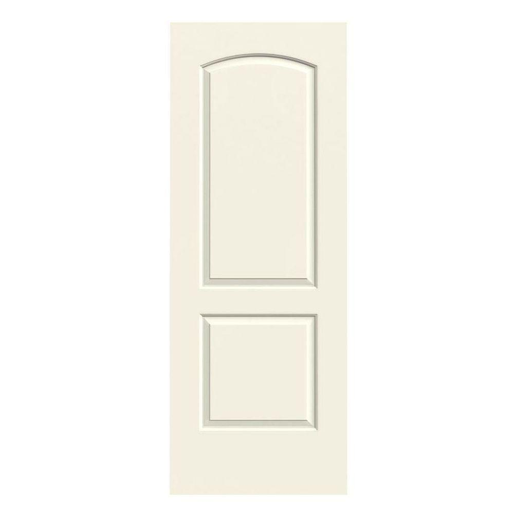 28 in. x 80 in. Continental Vanilla Painted Smooth Molded Composite