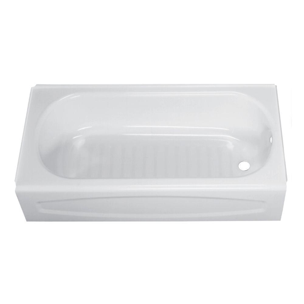 American Standard New Salem 5 ft. Right Drain Soaking Bathtub in ...