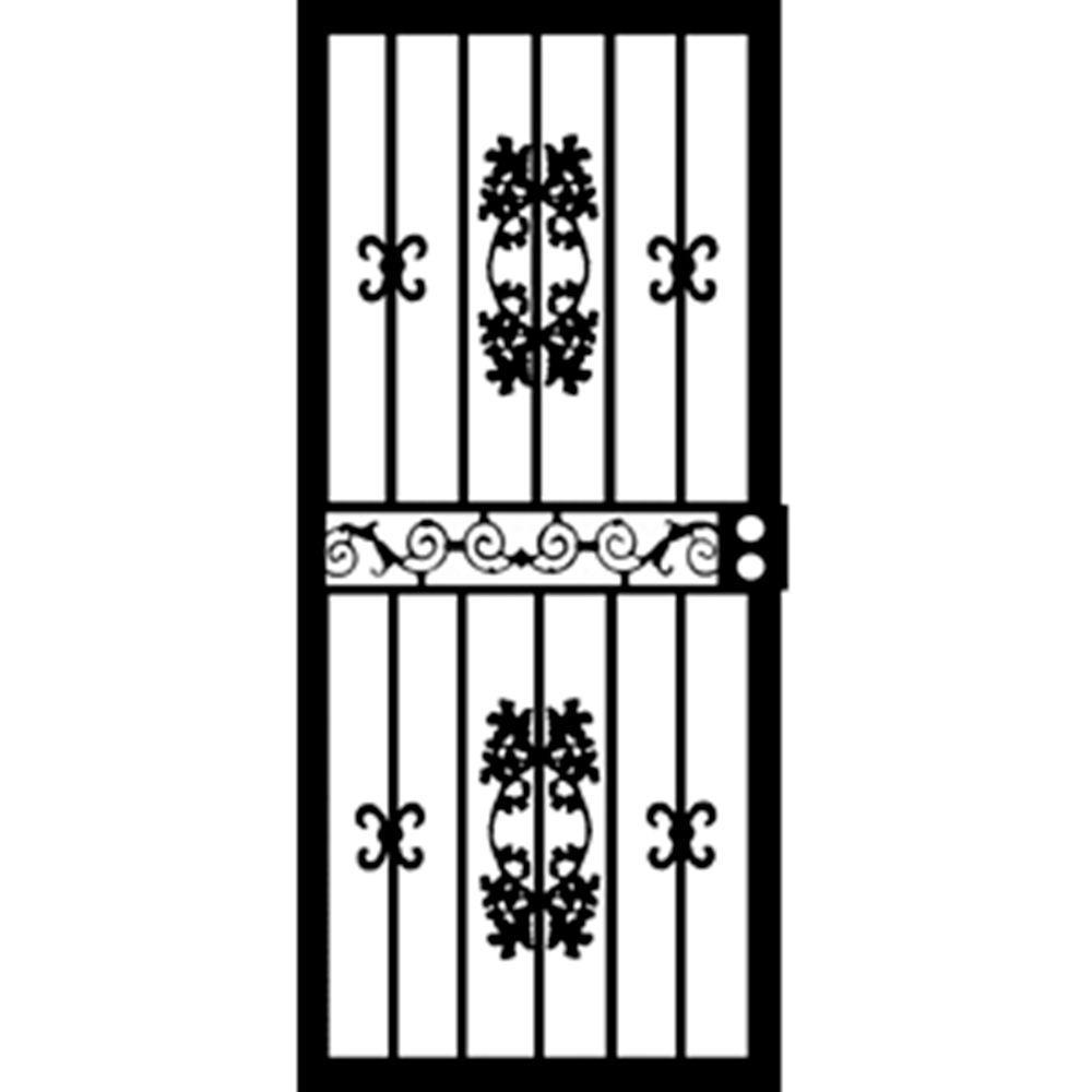 32 in. x 80 in. 400 Series Black St. Louis Security Door