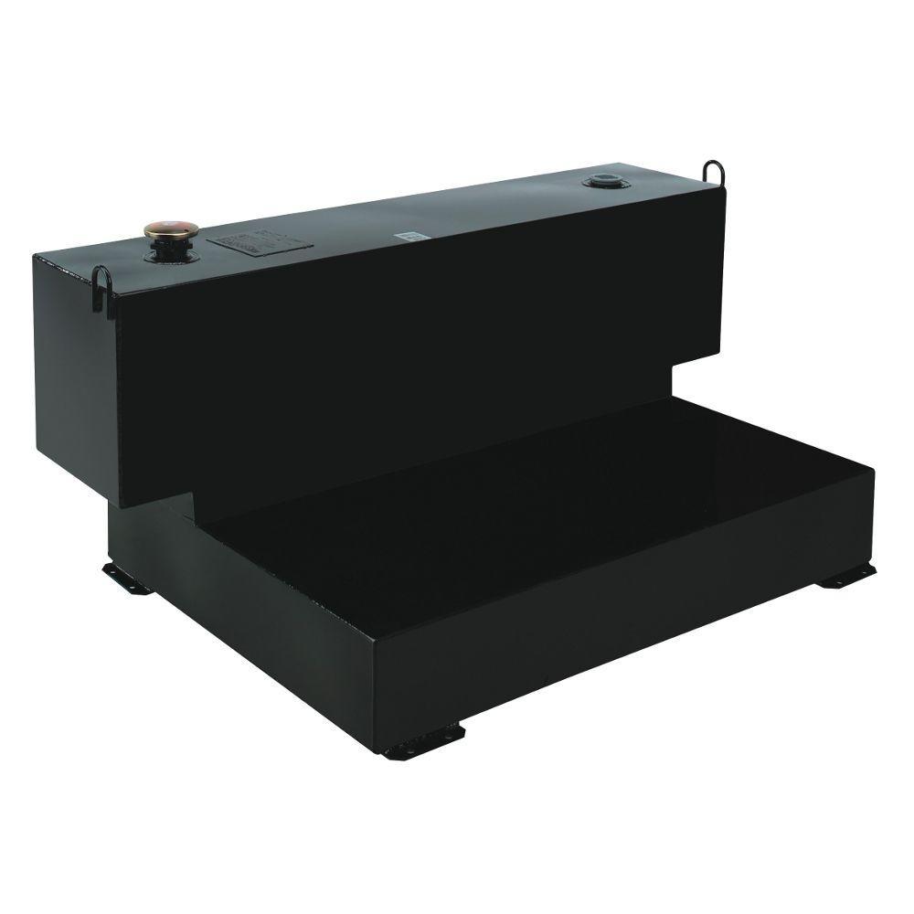 Delta Short-Bed L-Shaped Steel Liquid Transfer Tank in Black