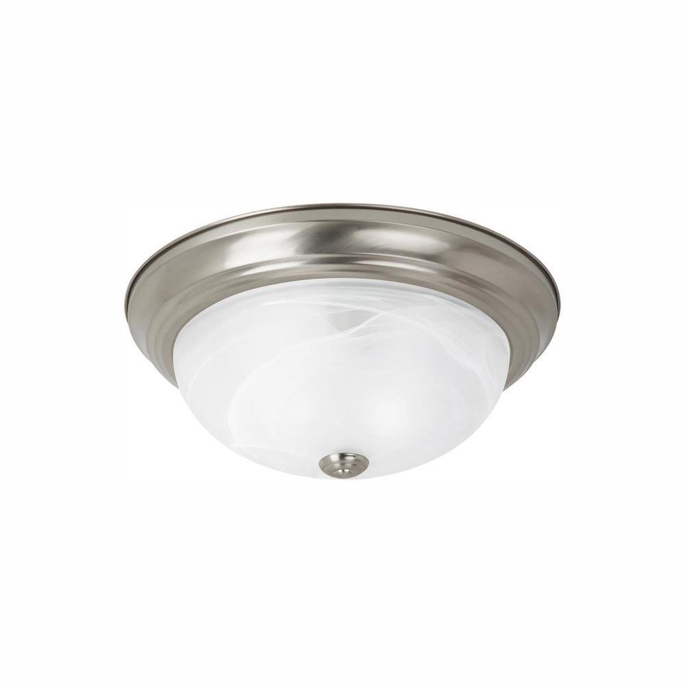 Windgate 1-Light Brushed Nickel Flush Mount with LED Bulb