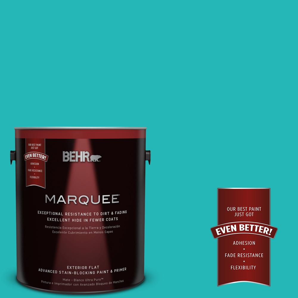 BEHR MARQUEE 1-gal. #MQ4-21 Caicos Turquoise Flat Exterior Paint