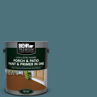 1 gal. #S450-6 Tornado Season Low-Lustre Interior/Exterior Paint and Primer In One Porch and Patio Floor Paint