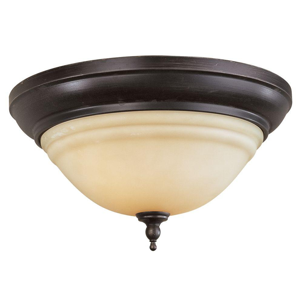 World Imports Montpellier Bath Collection 2-Light Flush Mount Oil Rubbed Bronze Light