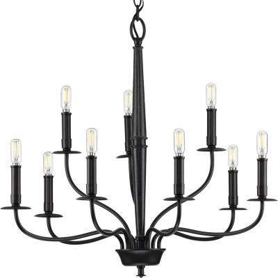 Durrell Collection 9-Light Black Chandelier