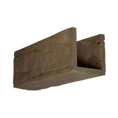 6 in. x 6 in. x 12 in. 3 Sided (U-Beam) Riverwood Honey Dew Endurathane Faux Wood Ceiling Beam Premium Sample