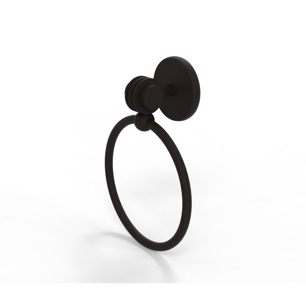 Satellite Orbit Two Collection Towel Ring with Dotted Accent in Oil