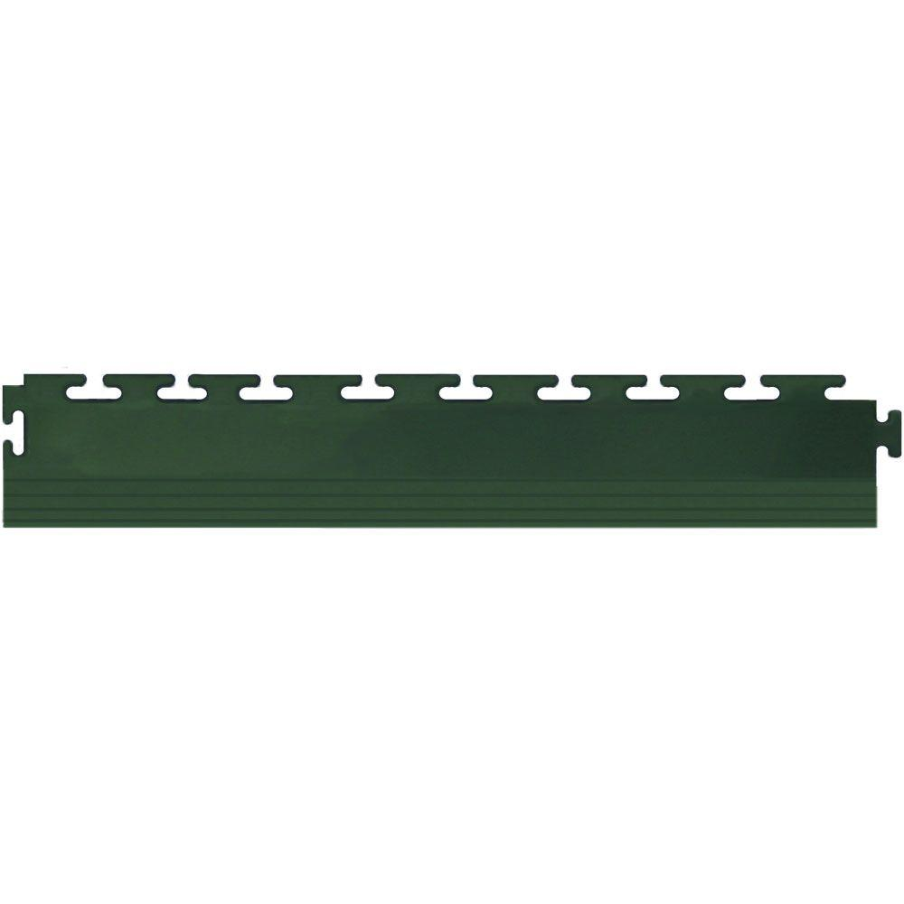 IT-tile 20-1/2 in. x 2-1/2 in. Coin Forest Green PVC Tapered Interlocking Multi-Purpose Flooring Tile Edges (4-Pack)