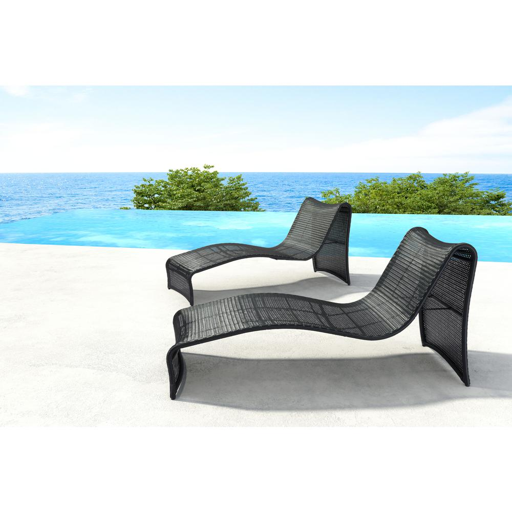 Zuo rocky beach aluminum outdoor chaise lounge 703842 for Beach lounge chaise