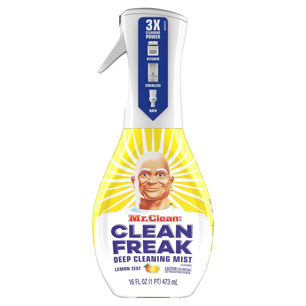 Mr. Clean Clean Freak 16 oz. Lemon Zest Scent Deep Cleaning Mist Multi-Surface Spray Starter Kit