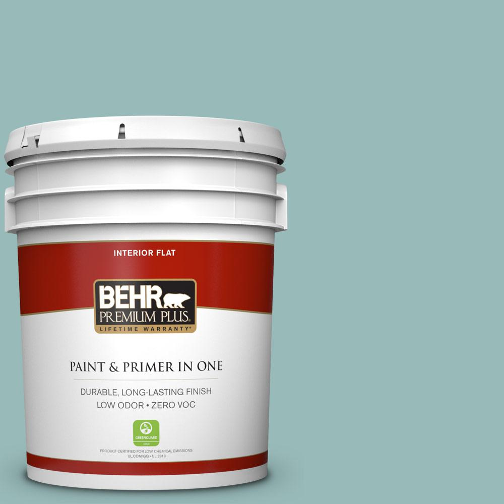 5 gal. #PPU12-06 Lap Pool Blue Zero VOC Flat Interior Paint