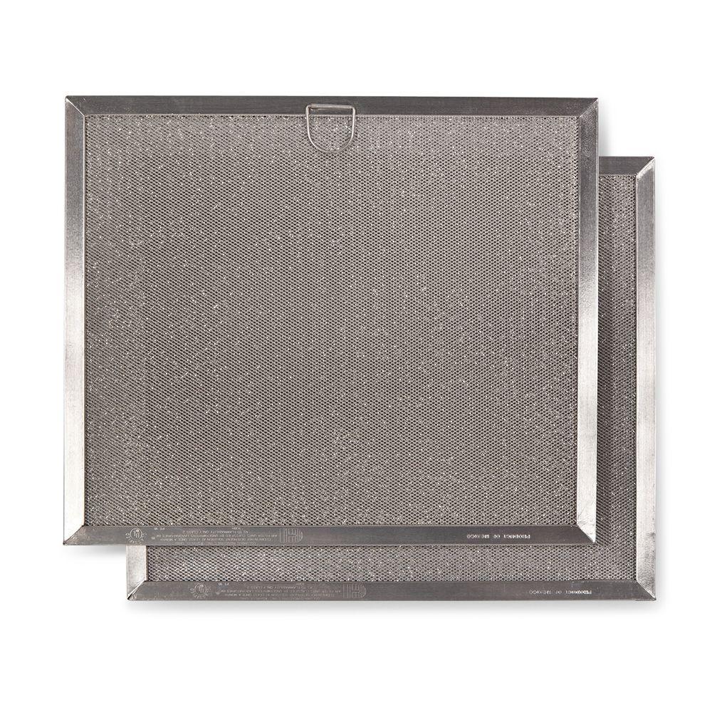 Broan-NuTone NSP1 Series Range Hood Externally Vented Aluminum Replacement Filter 2 Pack