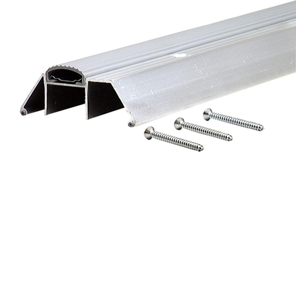 Deluxe Extra High 3-3/4 in. x 90-1/2 in. Aluminum (Silver) Threshold with Vinyl Seal