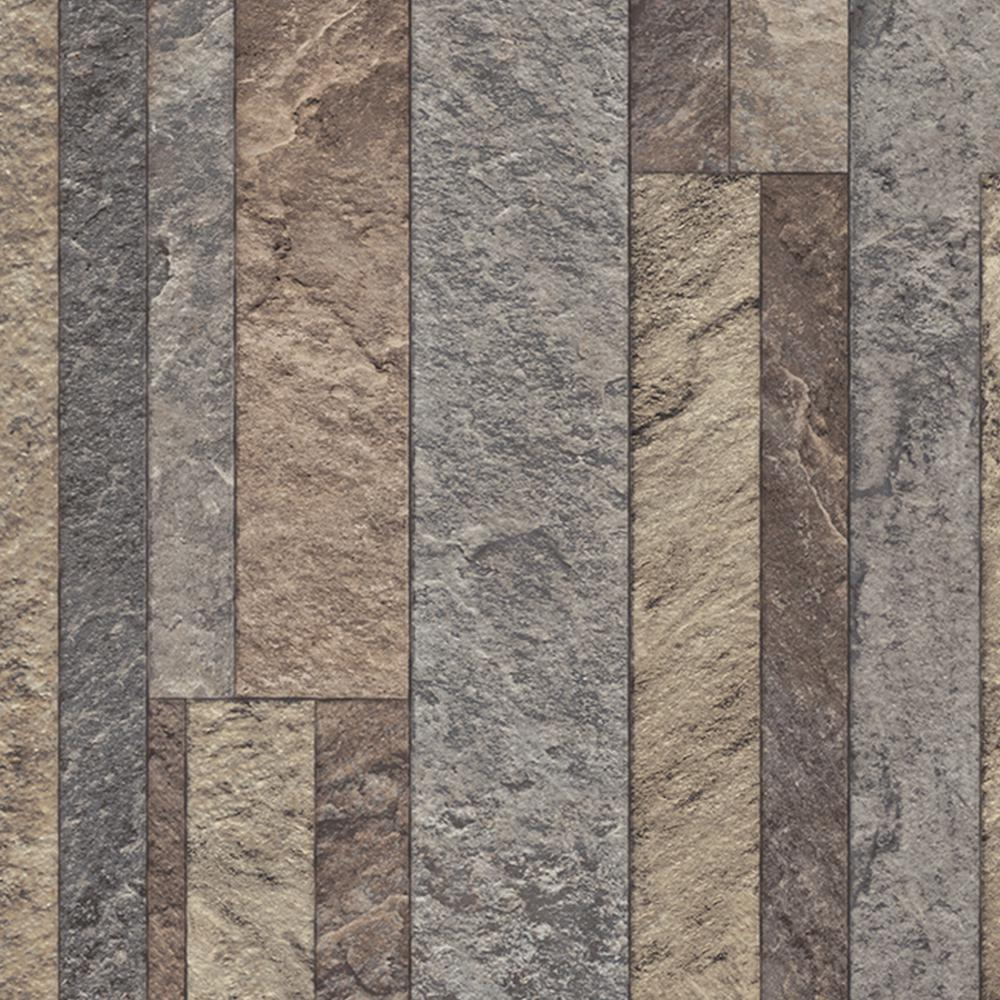 Broken Slate Multi-Color 13.2 ft. Wide x Your Choice Length Residential