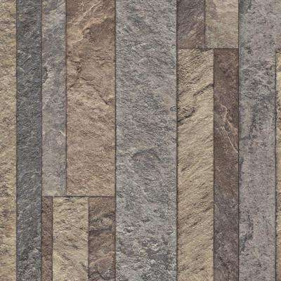 Broken Slate Multi-Color 13.2 ft. Wide x Your Choice Length Residential Vinyl Sheet Flooring