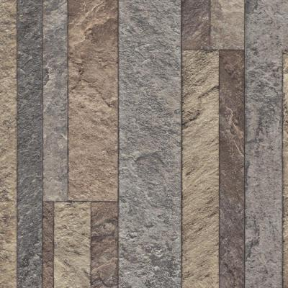 Broken Slate Multi-Color Stone Residential Vinyl Sheet Flooring 13.2ft. Wide x Cut to Length