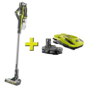 Ryobi 18-Volt ONE+ Stick Vacuum Cleaner + Battery Pack & Charger