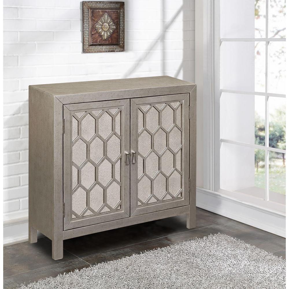 Pulaski Furniture Silver Mirrored Storage Cabinet