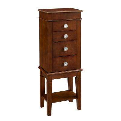 Marilyn Dark Walnut Jewelry Armoire