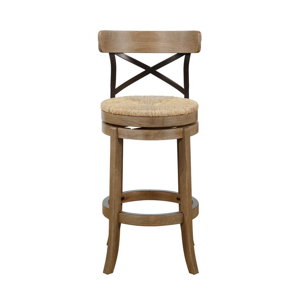 Boraam Myrtle 29 In Gray Barstool 76929 The Home Depot