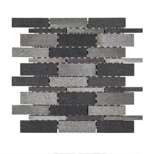 Jeffrey Court Ashes 10 5 In X 12 125 In X 8 Mm Interlocking Textured Basalt Mosaic Tile 99267 The Home Depot,How To Paint Your Kitchen Cabinets White