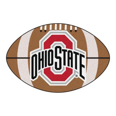 NCAA Ohio State University Brown 2 ft. x 3 ft. Specialty Area Rug