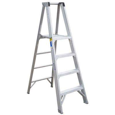 4 ft. Aluminum Platform Step Ladder with 375 lb. Load Capacity Type IAA Duty Rating