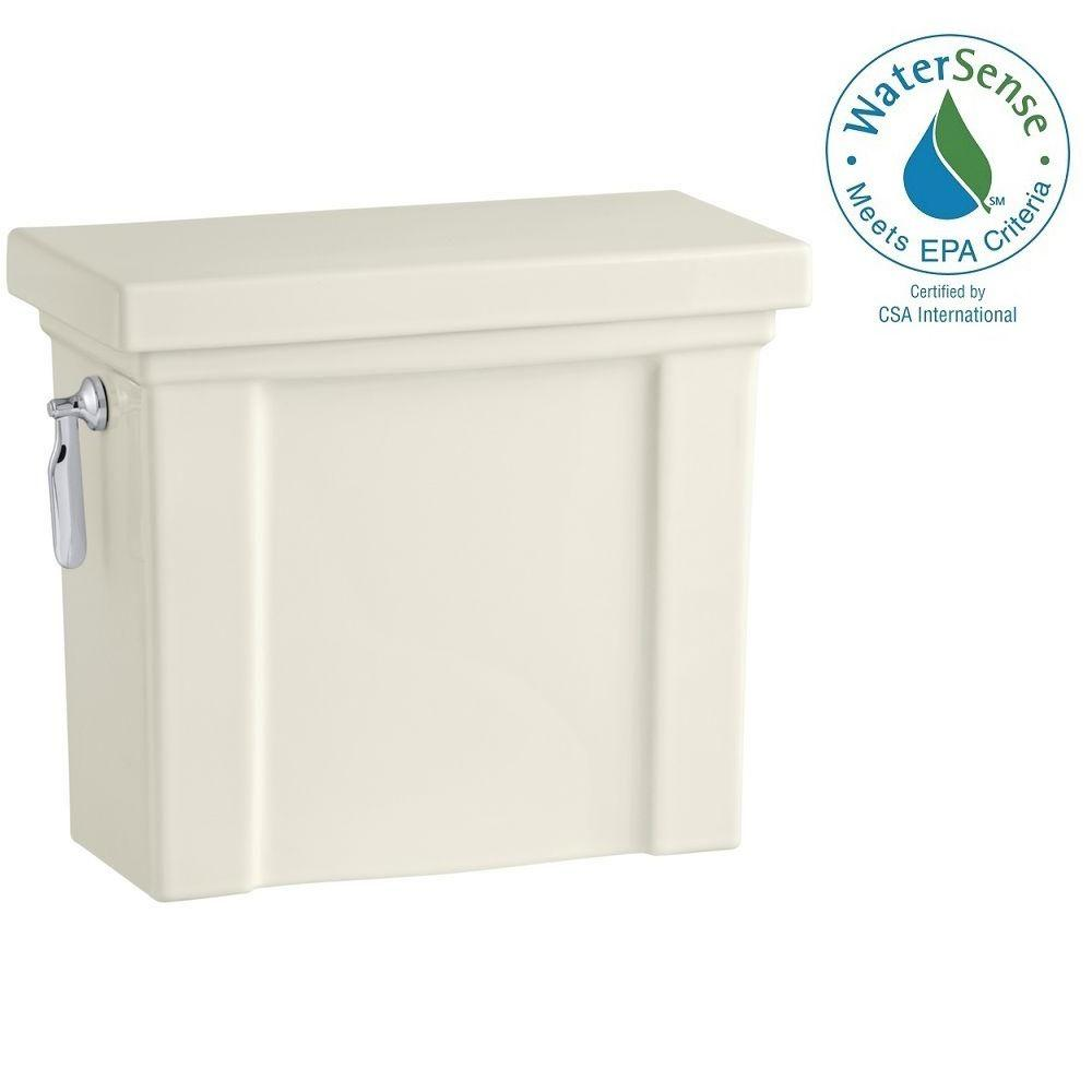 KOHLER Tresham 1.28 GPF Single Flush Toilet Tank Only with AquaPiston Flushing Technology in Biscuit