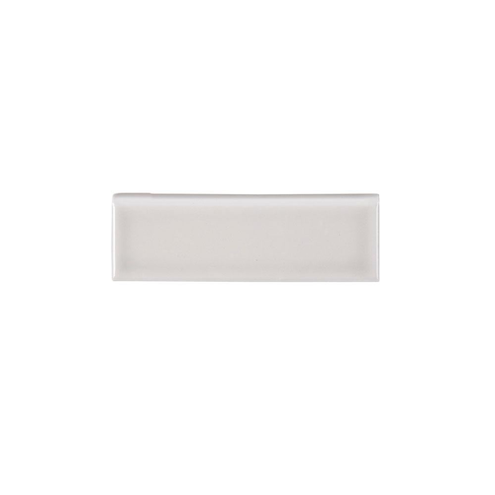 Jeffrey Court Weather Grey 2 In X 6 Ceramic Single Bullnose Trim Tile