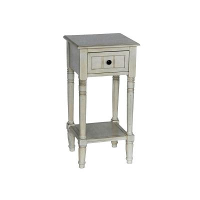 Simplify Antique White 1-Drawer End Table