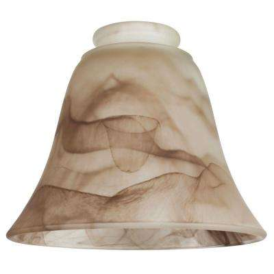5-1/8 in. Brown Swirl Bell with 2-1/4 in. Fitter and 5-7/8 in. Width