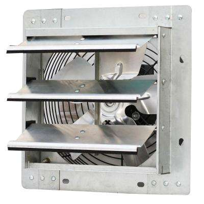 600 CFM Power 10 in. Variable Speed Shutter Exhaust Fan