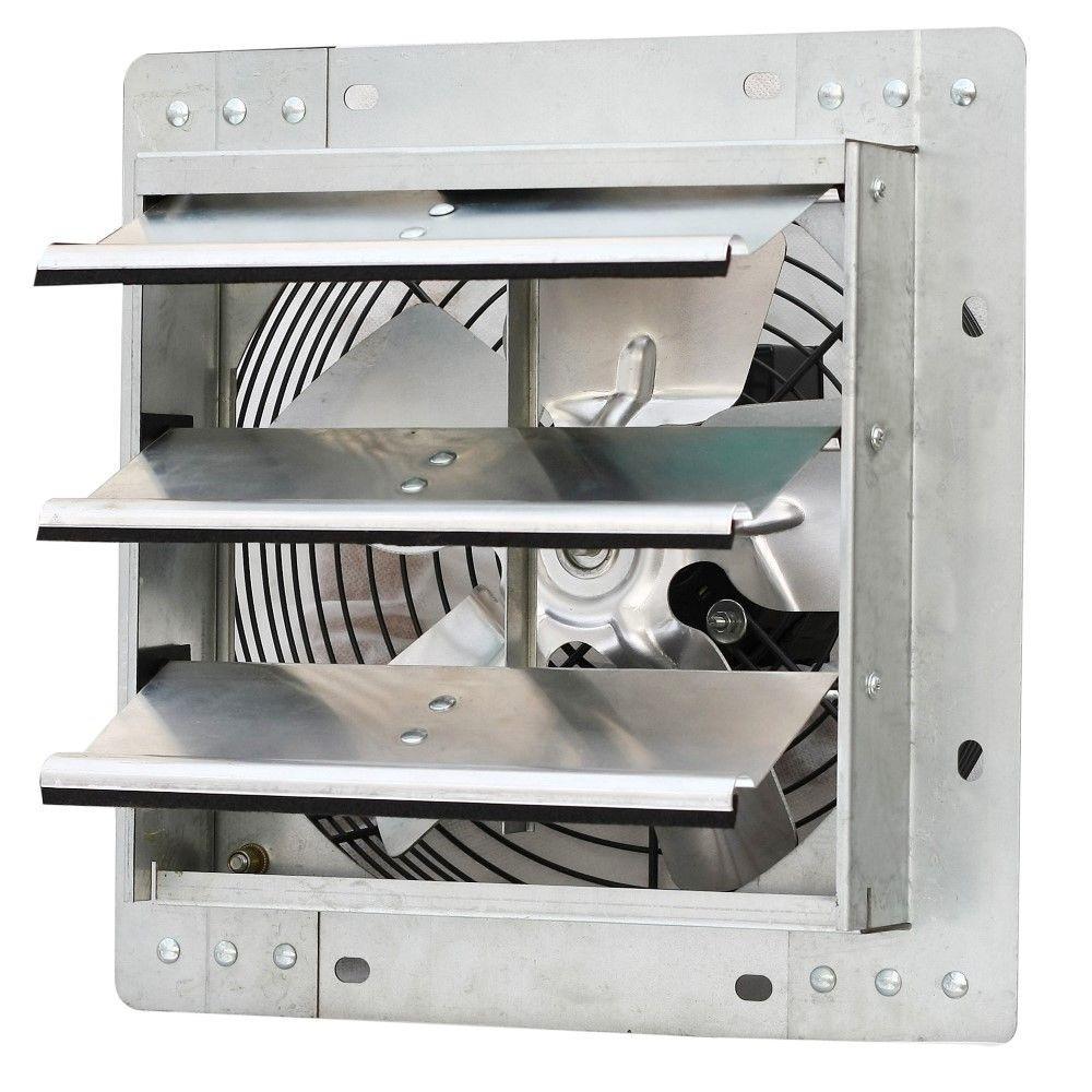 600 CFM Power 10 in. Variable Speed Shutter Exhaust Fan