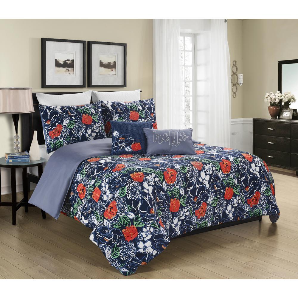 Daria 5-Piece Full/Queen Reversible Comforter Sets