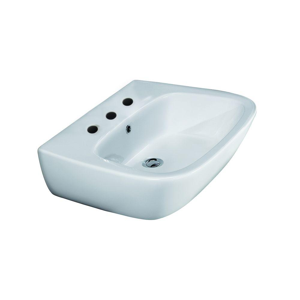 Barclay Products Elena 600 Wall-Hung Bathroom Sink in White