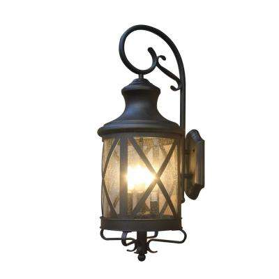 Taysom 4 light black outdoor wall mount lantern