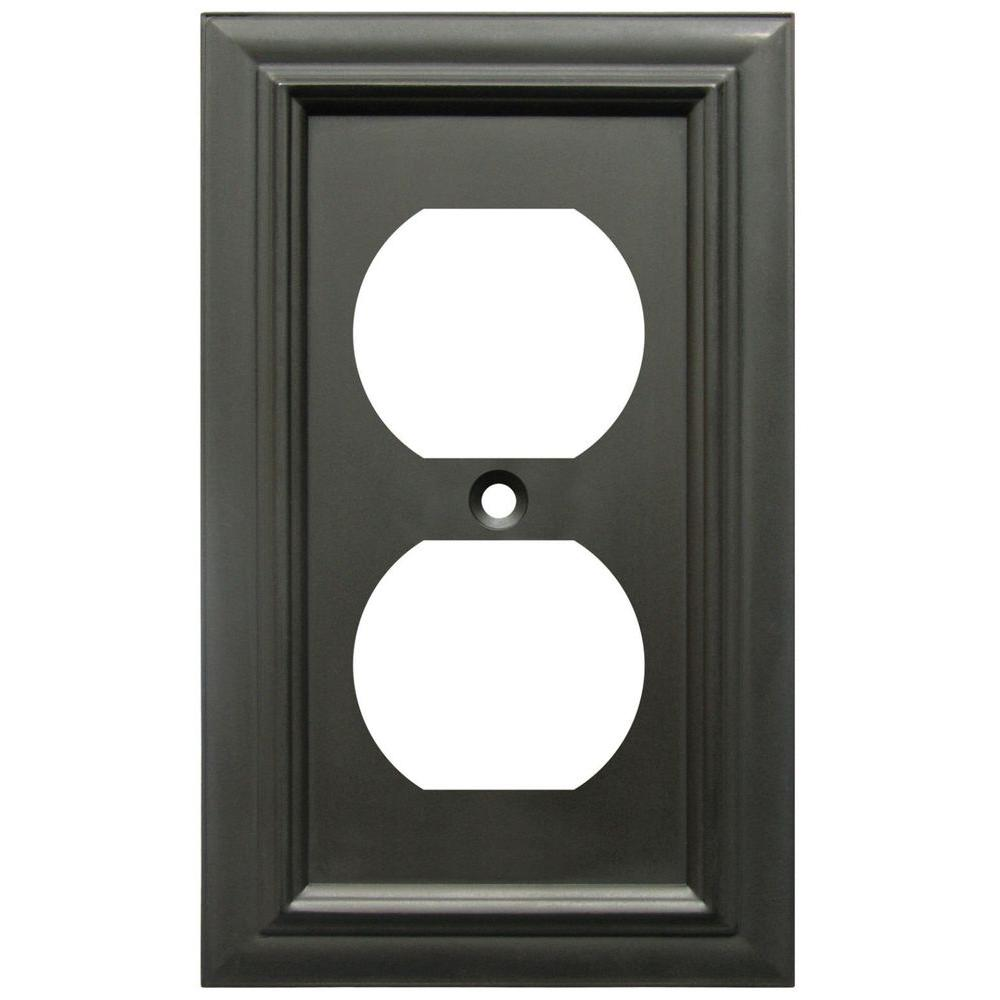 continental 1 duplex wall plate oil rubbed bronze
