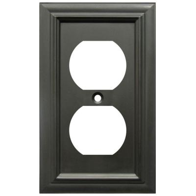 Continental 1 Gang Duplex Metal Wall Plate - Oil-Rubbed Bronze