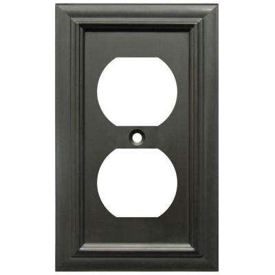 Continental 1 Duplex Wall Plate - Oil Rubbed Bronze
