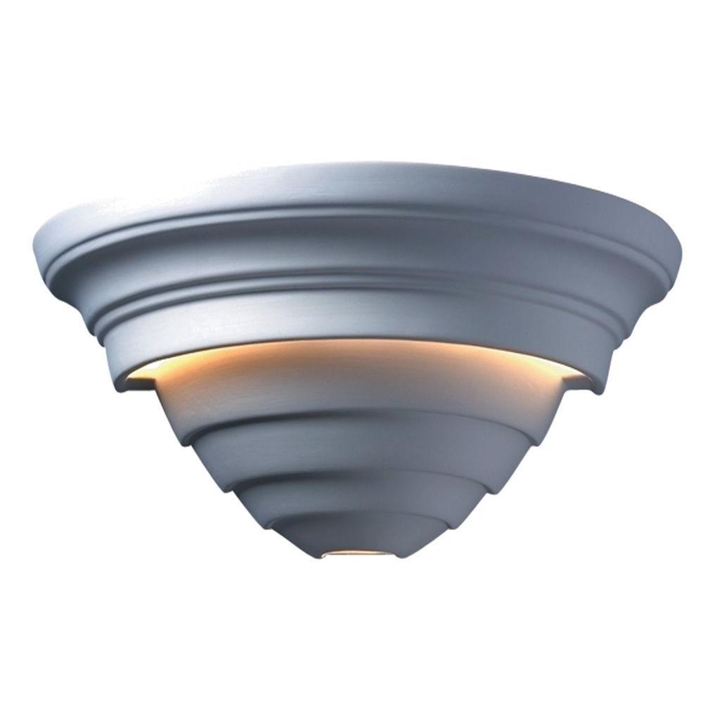 Leonidas 2-Light Ceramic Bisque Fluorescent Sconce