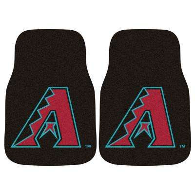 Arizona Diamondbacks 18 in. x 27 in. 2-Piece Carpeted Car Mat Set