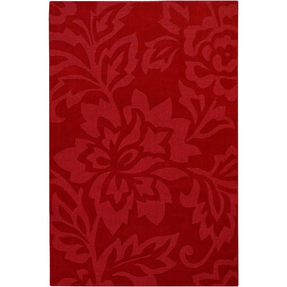 Chandra Jaipur Red 5 ft. x 7 ft. Indoor Area Rug