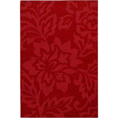 Jaipur Red 5 ft. x 7 ft. Indoor Area Rug