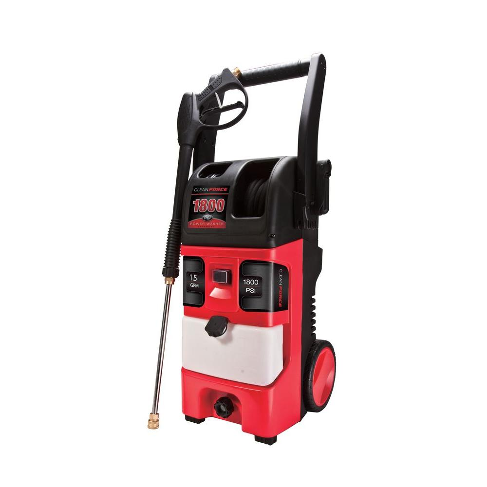 Cleanforce Cleanforce 1800-PSI 1.5-GPM Heavy-Duty Axial Cam Electric Pressure Washer