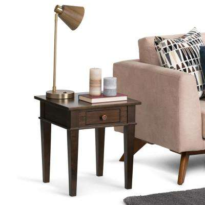 Carlton Dark Tobacco Brown Storage End Table